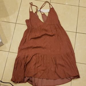 O'Neil clay red summer dress